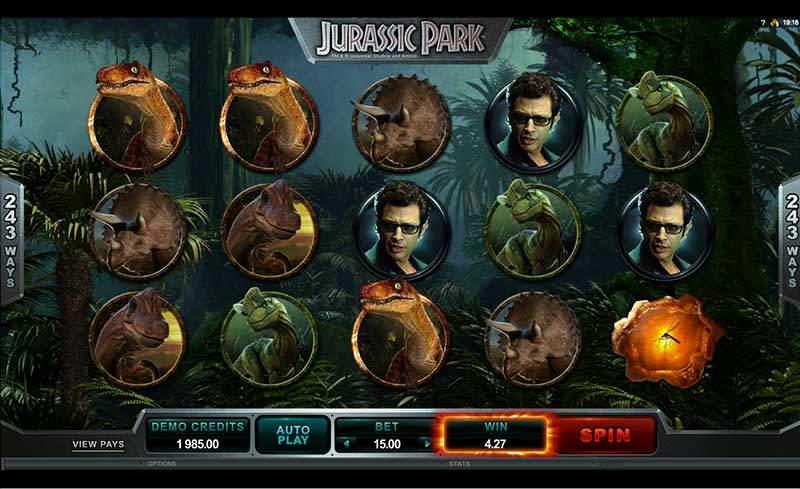 Recenze automatu: video automat Jurassic Park