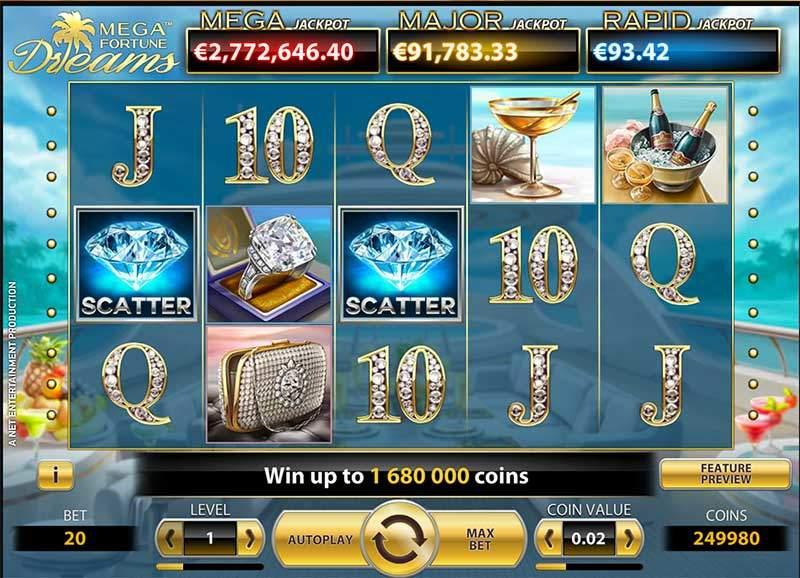 Recenze automatu: hrací automat Mega Fortune Dreams