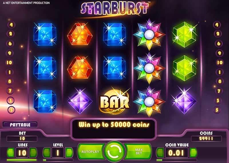 Recenze automatu: online automat Starburst