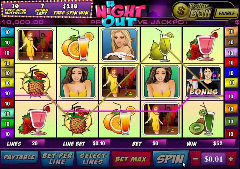 Recenze automatu: hrací automat A Night Out