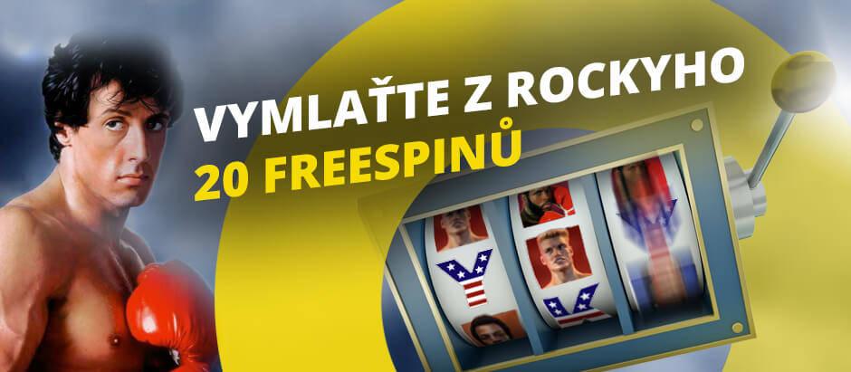 Fortuna Vegas nabízí 20 free spinů na automatu Rocky!