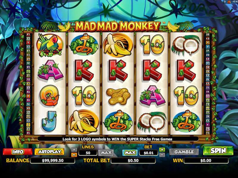 Výherní automat Mad Mad Monkey
