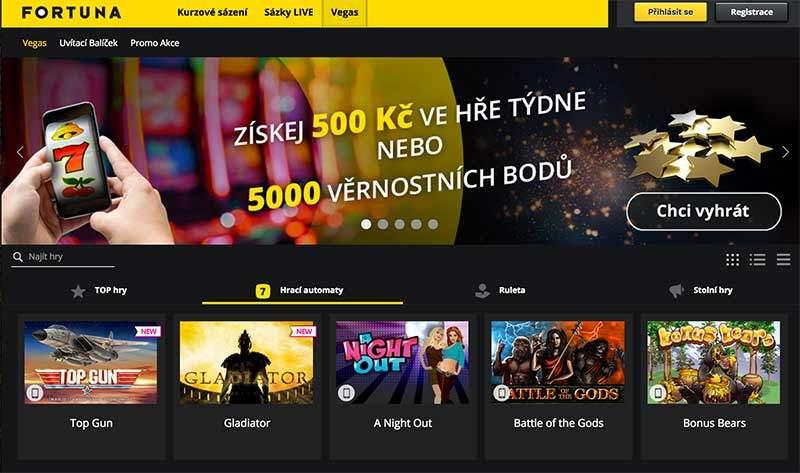 Fortuna Casino – Hrajte v mobilní aplikací pro Android i iOS